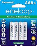 8-ct Panasonic Eneloop AAA Rechargeable Batteries $13.83