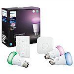Philips Hue White & Color Starter Kit $120 + Ger $50 Dell Promo eGift Card