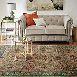 Gordon Natural Linen Loveseat by Home Decorators Collection $424 (60% Off), Arm Chair $299