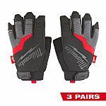 3-Pack Milwaukee Fingerless Work Gloves $19.97 + Free Shipping