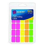 525-Count Avery Removable Color Coding Labels $1.68