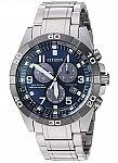 Citizen Brycen Blue Dial Titanium Men's Eco-Drive Quartz Watch (Blue Dial) $214