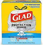 110-Ct Glad OdorShield Tall Trash Bags (Febreze Fresh, 13-Gallon) $10 or Less