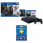 """PlayStation 4 Slim 1TB Console + """"Only on PS4 Game Bundle Vouchers"""" + PS Plus 3 Month Membership $235"""