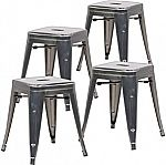 """4-Ct 18"""" Poly & Bark Trattoria Metal Side Dining Chair & Bar Stool $51"""