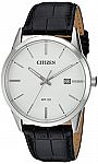 Citizen Men's Quartz Stainless Steel and Leather Casual Watch $48.98