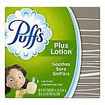 Puffs Plus Facial Tissue (48-Ct) 4 for $4, 18 Ct Detergent Pacs $2