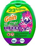 96-Ct Gain Flings! Laundry Detergent Pacs (Moonlight Breeze) $16 or Less