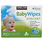 900-Count Kirkland Signature Baby Wipes (Ultra Soft) $19.99 (Members only)