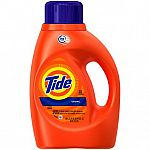 40 oz Tide HE Turbo Clean Liquid Laundry Detergent, Original $2.94