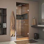 DreamLine Unidoor Lux 34 in. x 72 in. Frameless Hinged Shower Door $274