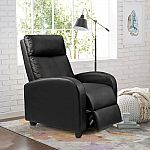 Walnew Home Theater PU Leather Recliner with Padded Seat and Backrest $99