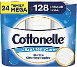 24-Ct Family Mega Rolls Cottonelle Toilet Paper $25 + Free Shipping