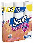 12-Count Scott ComfortPlus Big Roll Toilet Paper $3 (YMMV) + Free Shipping