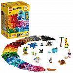 LEGO Classic Bricks and Animals 11011 Creative Building Set $34.76 and more