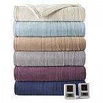 Biddeford Heated MicroPlush Blanket: King  $23, Queen $18, Twin $11.25 (Org $100)