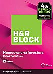 H&R Block Tax Software Deluxe [Federal Only] with 4% Refund Bonus Offer $17.49 & More