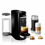 Nespresso VertuoPlus Deluxe Coffee & Espresso Maker by De'Longhi with Aeroccino Milk Frother $130 and more