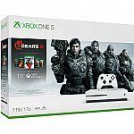Xbox One S 1TB Gears 5 Console Bundle $199.99