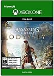 Assassin's Creed Odyssey (Digital Code - XBox one) $15, Ultimate Edition $30