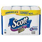 36-ct Scott 1100 Unscented Bath Tissue Bonus Pack $24.88