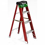 Werner 4 ft. Red Fiberglass Step Ladder with 225 lb. Load Capacity Type II $19.97