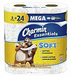 12-Ct Charmin Essentials Soft Toilet Paper Mega Rolls $7 + Free Shipping