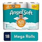 18-Count Angel Soft Toilet Paper $14.97