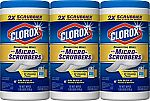 210-Ct Clorox Disinfecting Wipes with Micro-scrubbers $14.50