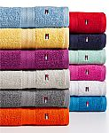 Tommy Hilfiger 100% Cotton Bath Towels $5, Hand Towel $4, Washcloth $1.99 (Free Shipping $25+)