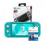 Nintendo Switch Lite Console + $20 Nintendo GC + Screen Protector $229.99