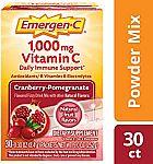 30-Count Emergen-C Vitamin C 1000mg Powder $9.97 & More