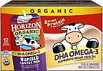12-Count Horizon Organic, Low Fat Milk with DHA Omega-3, Vanilla $11.96 & More
