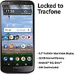 TracFone Motorola Moto G6 16GB 4G LTE Prepaid Smartphone (Renewed) $60 + Get $50 eGift Card back with Activation