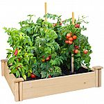 "Greenes Fence 42"" x 42"" x 5.5"" Cedar Raised Garden Bed $28"