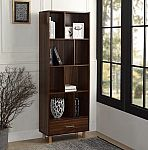 65 in. Espresso Wood 8-shelf Standard Bookcase $138.75