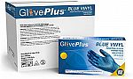 1000 Count GlovePlus Industrial Blue Vinyl Gloves $37.50 and more