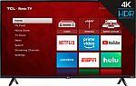 TCL 50S425 50 inch 4K Smart LED Roku TV $260