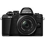 Olympus OM-D E-M10 Mark II Mirrorless Camera with M.Zuiko 14-42mm IIR Lens $299.99