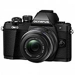 Olympus OM-D E-M10 Mark II Mirrorless Camera w/ 14-42mm f/3.5-5.6 II R Lens $299