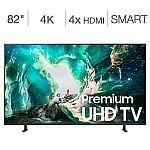 """Samsung UN82RU800DFXZA Flat 82"""" 4K UHD 8 Series Smart TV $1200"""