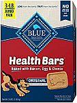 Blue Buffalo Health Bars Natural Crunchy Dog Treats Biscuits 3LB $4.25