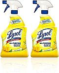 2-Count Lysol All Purpose Cleaner, Lemon Breeze, 32 oz $5