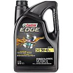 Castrol EDGE 5W-40 Advanced Full Synthetic Motor Oil 5 Qts 2 for $45