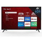 "65"" TCL 65S421 4-Series 4K UHD HDR Roku Smart LED HDTV (2018 Model) + 2-Pack Google Home Mini Bundle $428 and more"