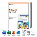 Microsoft Office 365 Personal 1 Yr Subscription - 1 User + Surface Pen $68