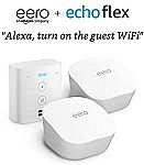 eero mesh WiFi system, 2-Pack with Free Echo Flex $119
