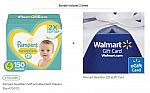 300-Count Size 4 Pampers Swaddlers Diapers + $20 Walmart Gift Card + $15 Prepaid GC for $77.58