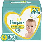 Pampers Swaddlers Disposable Baby Diapers Size 3 $31 & More + $15 Gift Card with $50 Purchase