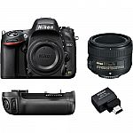 Nikon D610 DSLR Camera with 50mm f/1.8 Lens Kit $897